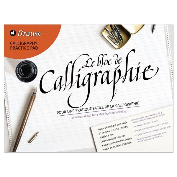Lernblock Kalligrapie 85g/m² liniert 50 Bl. cremfarben 3 Vorlagenblätter & 1 Bl. Schriftvorlagen