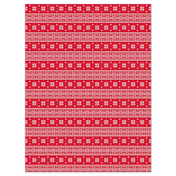 Decoupagepapier Weihnachten rot/weiß von Décopatch, 30x40cm, 20g/m²