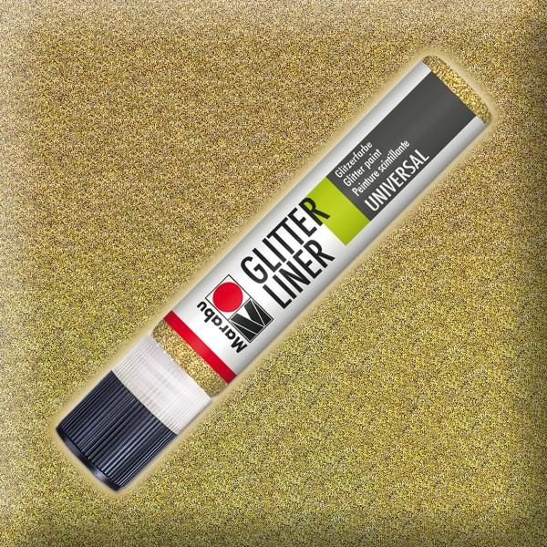 Marabu Glitter Liner 25ml gold universelle Effektfarbe