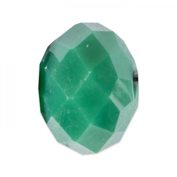 Facettenschliffperlen 4mm 35 St. tannengrün pastellf., feuerpoliert, Glas, Lochgr. ca. 0,9mm
