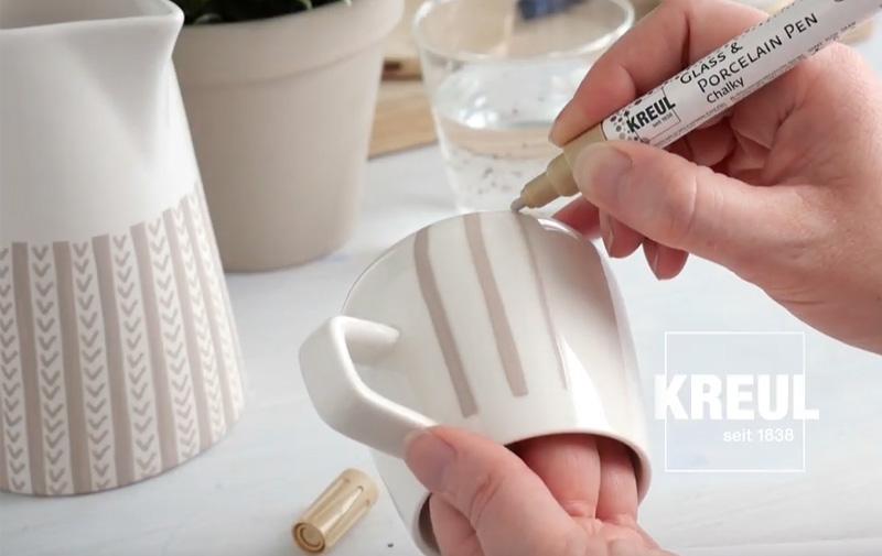 "Video ""Lust auf sanft-matte Töne mit KREUL Glass & Porcelain Chalky?"""