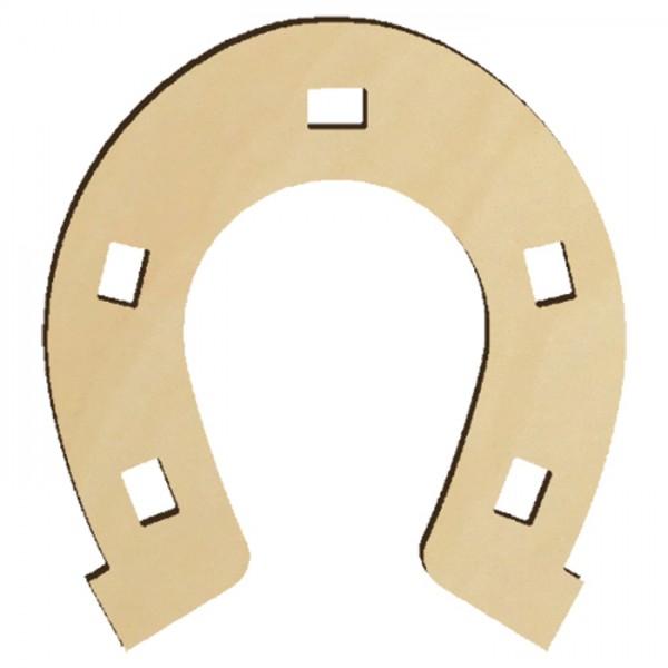 Holzmotiv Hufeisen 3mm stark ca. 6cm natur