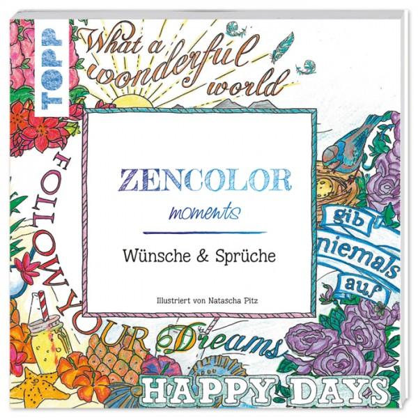 Buch - Zencolor moments Wünsche und Sprüche 108 Seiten, 19x19cm, Softcover