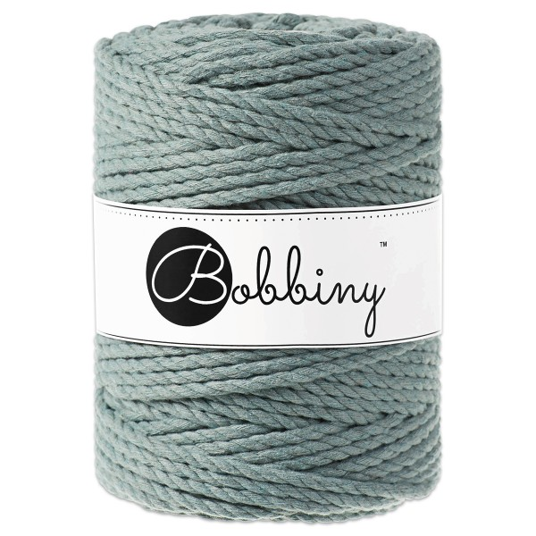 Bobbiny 3PLY Makramee-Kordel Ø5mm laurel ca. 700g-800g, 100% Baumwolle, LL 100m, 3x60 Fasern