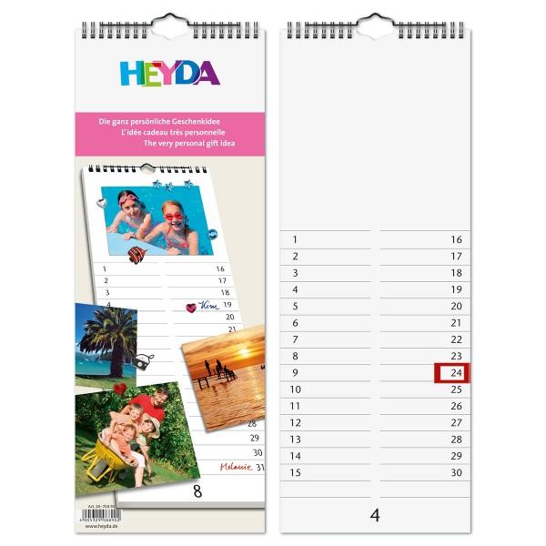 Streifenkalender 170g/m² 16x42,5cm 13 Bl. weiß