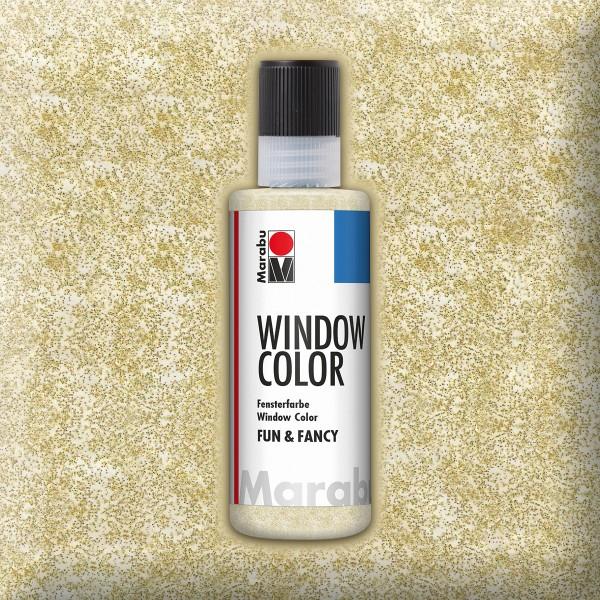 Marabu fun&fancy 80ml glitter gold Windowcolor