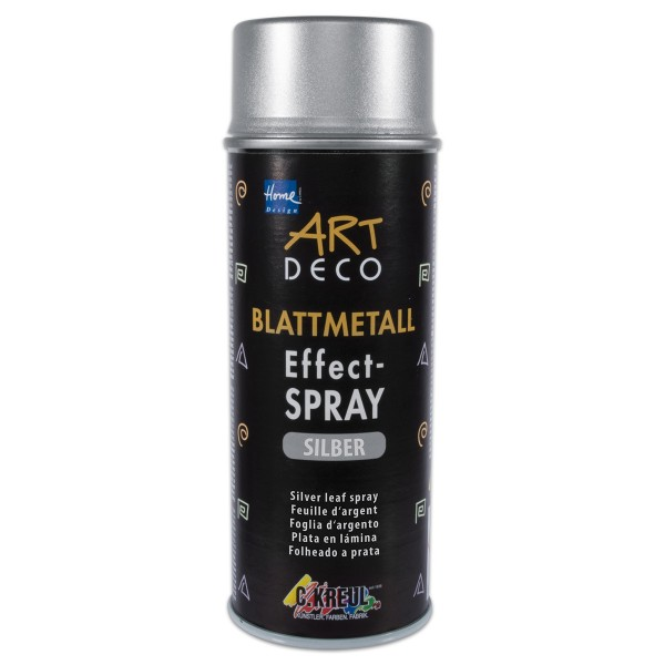 Art Deco Blattmetall Effekt-Spray 400ml Silbereffekt
