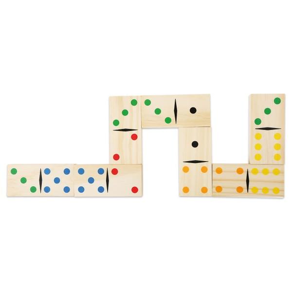 Spiel - Domino Gigant Holz Steingröße 9,5x4,5x1cm 28-teilig ab 3 Jahren