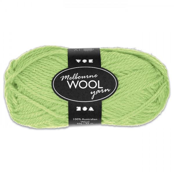 Garn Melbourne Filzwolle 50g neongrün 100% Wolle, LL 92m, Nadel Nr. 4