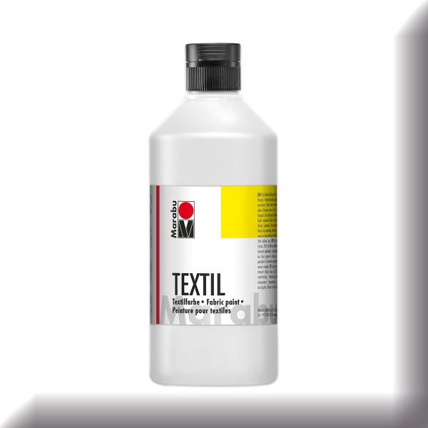 Marabu Textil 500ml weiß Stoffmalfarbe für helle Stoffe