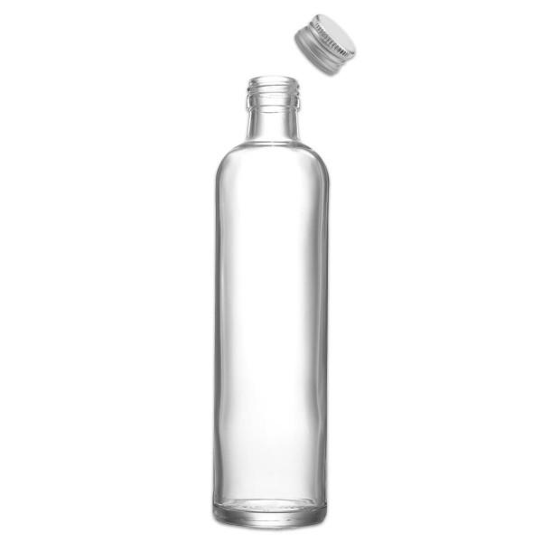 Krugflasche Glas mit Metallverschluss 350ml ca. Ø 5,7x22cm