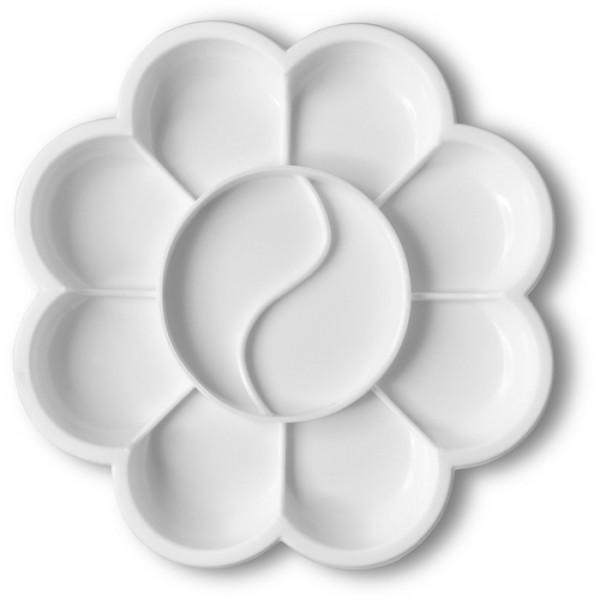 Mischpalette Kunststoff Ø 14cm Blüte weiß