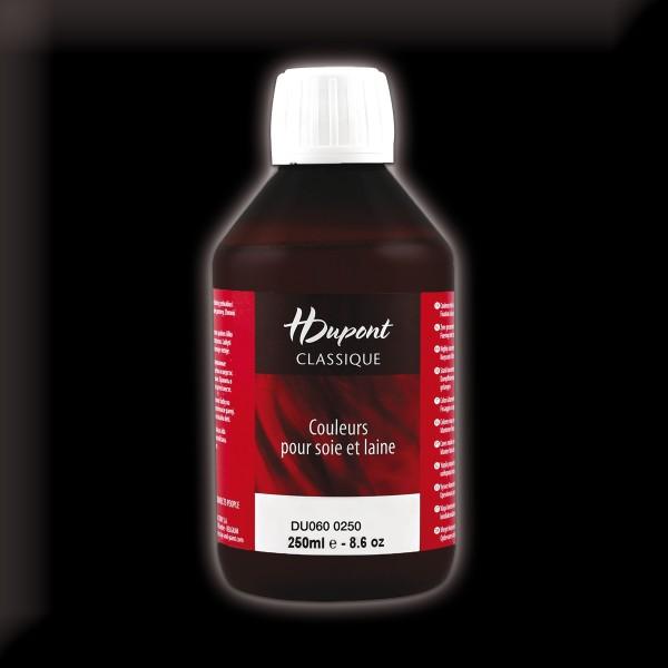 H.Dupont Classique 250ml Noir Concentré/tiefschwarz Seidenmalfarbe, Dampffixierung