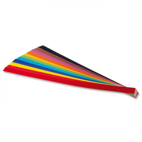 Flechtstreifen Papier 1x50cm 200 St./10 Farben 130g/m²