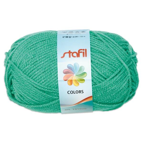 Wolle Colors 50g smaragdgrün LL ca.133m, Nadel Nr. 3, 100% Polyacryl