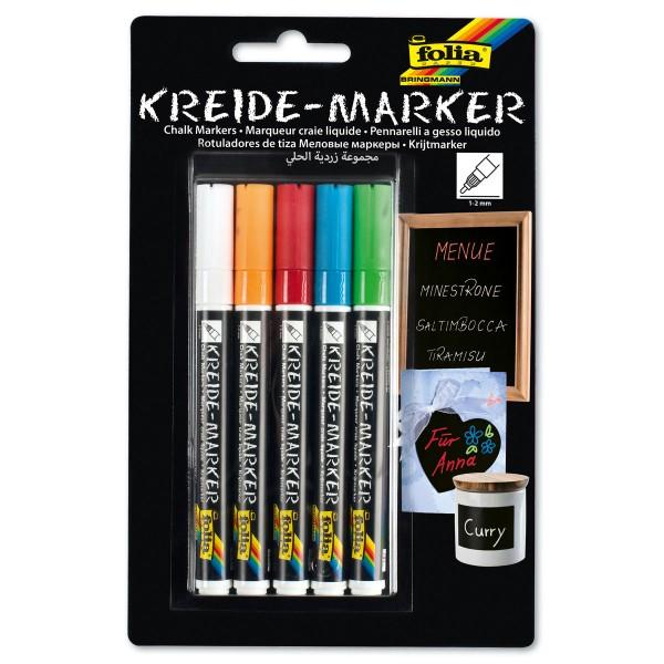 Fresh Colours Kreidemarker Strichbreite 1-2mm 5 St./Farben