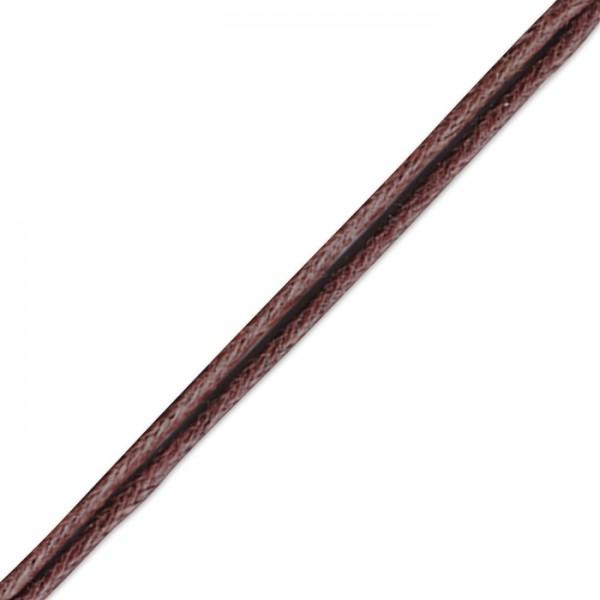 Kordel gewachst 1mm 10m dunkelbraun Synthetik