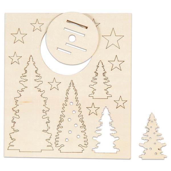 Aufsteller Weihnachtsbäume Holz Ø 7,3x13,4cm Stärke 3mm