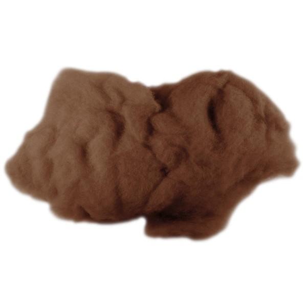 Krempelwolle max. 27mic 100g hellbraun 100% Wolle vom neuseeländischen Merinoschaf