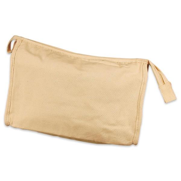 Kulturtasche 28x17x10cm hellnatur 100% Baumwolle, mit Reißverschluss