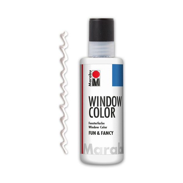 Marabu fun&fancy 80ml Konturweiß Windowcolor