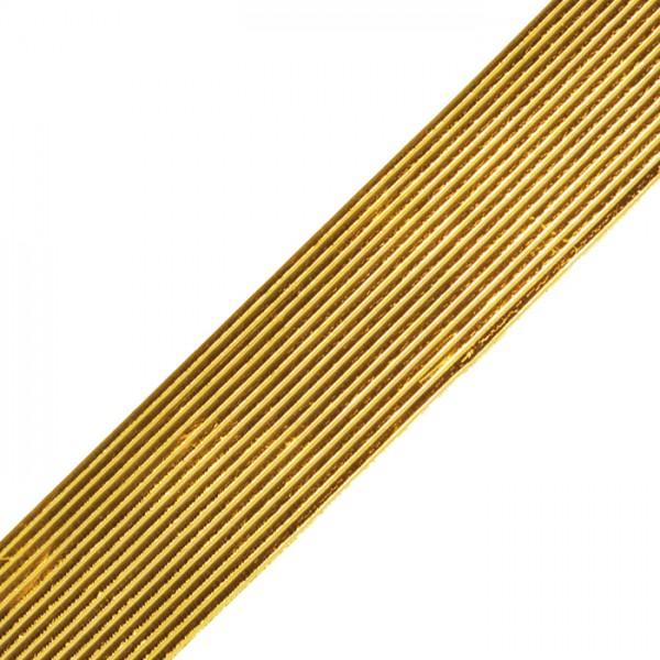 Verzierwachsstreifen 1mm 20cm 13 St. goldf. Flachstreifen