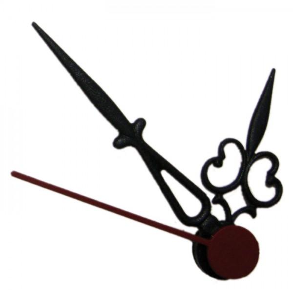 Uhrzeiger Kunststoff 27/41mm schwarz Antik mit Sekundenzeiger