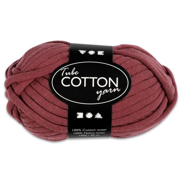 Baumwoll-Schlauchgarn 100g lila 100% Baumwollen mit Nylonfüllung, für Nadel Nr. 8-10