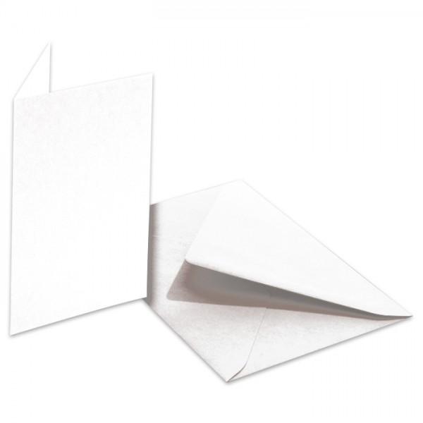 Doppelkarten 220g/m² 10,5x15cm 5 St. weiß inkl. Kuvert&Einlegeblatt