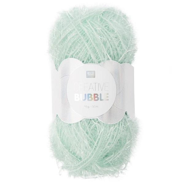 Creative Bubble Wolle 50g ca. 90m mint Nadel Stricken Nr. 2, Häkeln Nr. 4, 100% Polyester