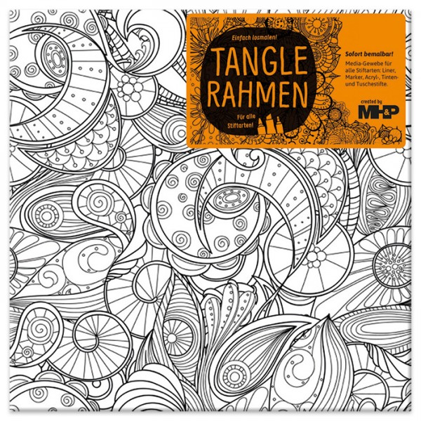 Tangle-Keilrahmen 20x20x2cm Traumsphäre