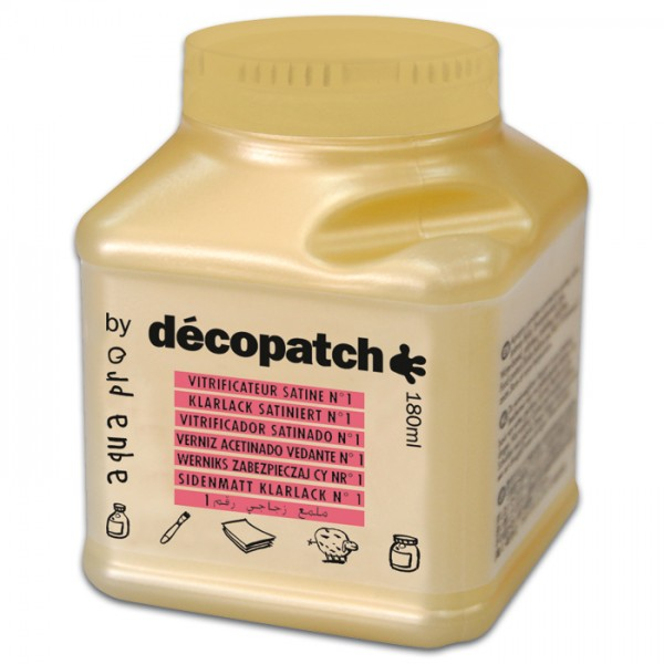 Aquapro Décopatch-Klarlack 180ml hochglänzend für Découpagetechnik, von Décopatch