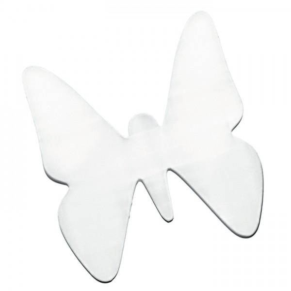 Fensterbild Seide Pongé 08 26x26cm Schmetterling 100% Seide, naturweiß