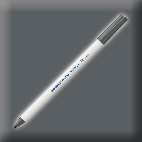 edding 4600 Textilstift grau Strichbreite 1mm