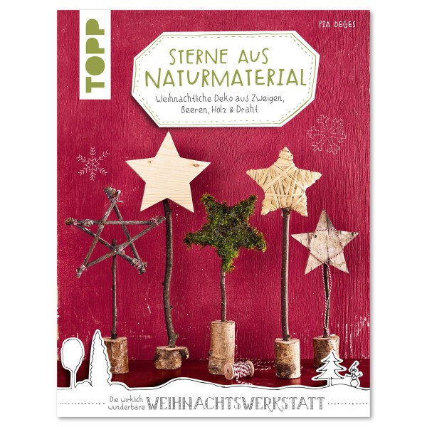 Buch - Sterne aus Naturmaterial 32 Seiten, 16,9x22cm, Softcover
