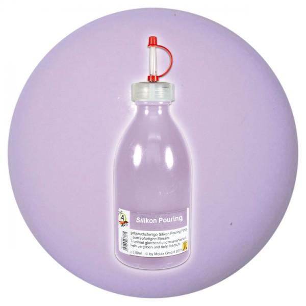Just4Art Silikon Pouring Farbe 250ml hellviolett mit Spritzdüse