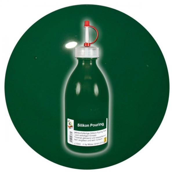 Just4Art Silikon Pouring Farbe 250ml emeraldgrün mit Spritzdüse