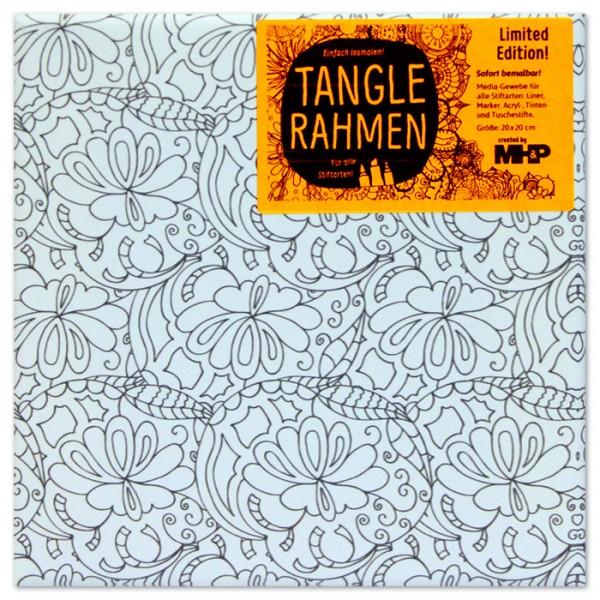 Tangle-Keilrahmen 20x20x2cm Abstrakt