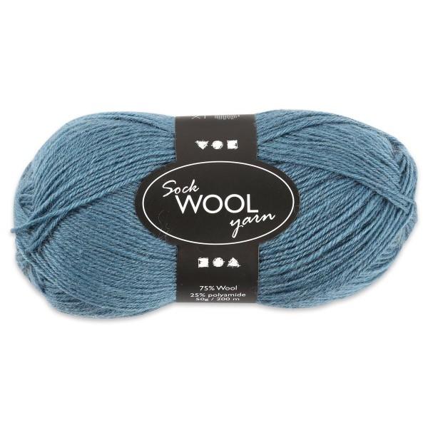 Sockenwolle 50g petrol 75% Wolle, 25% Polyamid, für Nadel Nr. 2,5-3