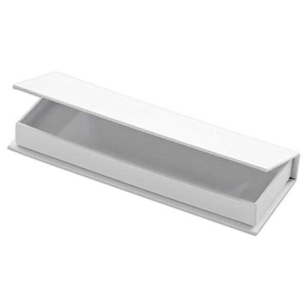 Stifte-Box Karton 19x6,8x2,3cm weiß