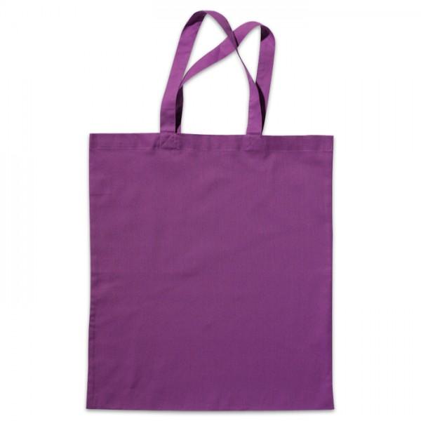 Tragetasche 38x42cm purpurviolett 100% Baumwolle, Bio-Qualität