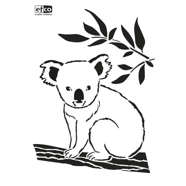 Universal-Schablone DIN A4 Koala Eucalyptus Kunststoff