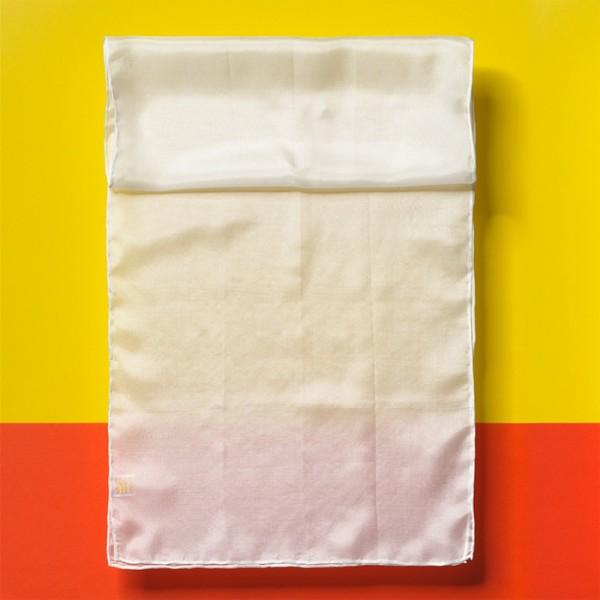 Schals Seide Pongé 05 ca.130x35cm 12 St. naturweiß 100% Seide