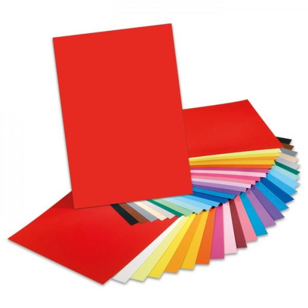 Tonpapier 130g/m² 50x70cm 100 Bl./10 Farben