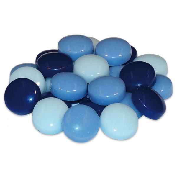 Fantasy-Glasmosaik Ø12mm 4mm 200g blau mix ca. 175 Steine