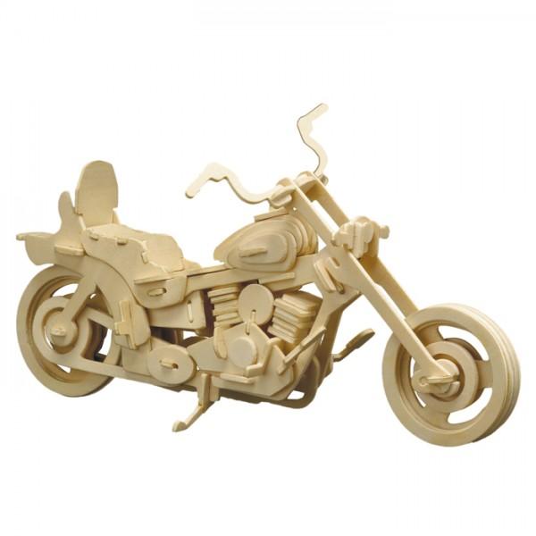 Holzbausatz Harley Davidson 30x18cm 96 Teile vorgestanzt, zum Zusammenstecken
