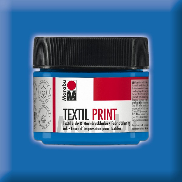 Marabu Textil Print 100ml primärcyan Druckfarbe für Textilien