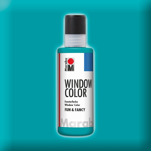 Marabu fun&fancy 80ml türkisblau Windowcolor