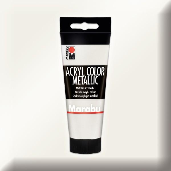 Marabu Acryl Color 100ml metallic-weiß