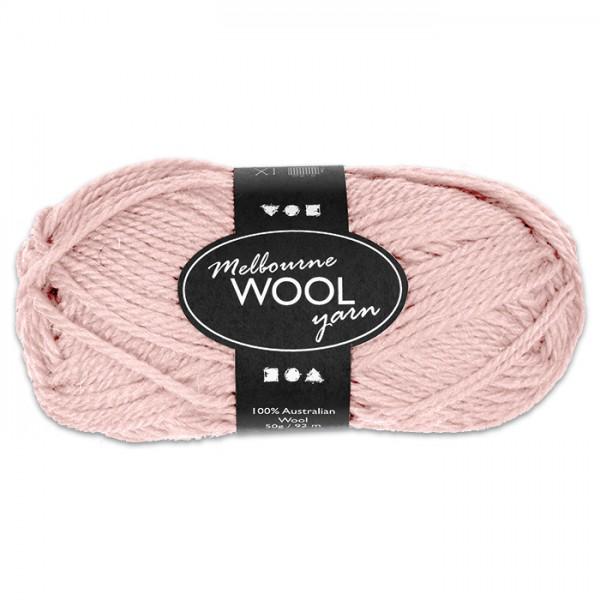 Garn Melbourne Filzwolle 50g blassrosa/hellrot 100% Wolle, LL 92m, Nadel Nr. 4